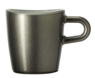 Tasse à espresso Loop / H 6 cm - Leonardo gris métallisé en verre