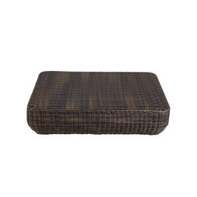 Arredamento - Tavolini  - Tavolino Agorà - / Polietilene intrecciato a mano - 100 x 100 cm di Unopiu - Marrone Tropicale - Alluminio, Fibra sintetica Waprolace