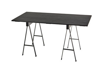 Studio Simple Tavolo - / con cavalletti - 150 x 75 cm Nero by Serax ...