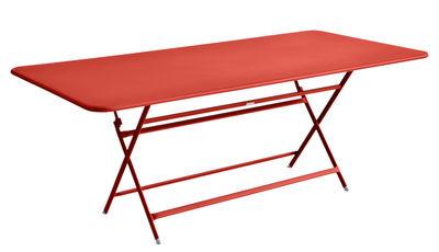 Outdoor - Tavoli  - Tavolo pieghevole Caractère / 90 x 190 cm - 8 a 10 persone - Fermob - Nasturzio - Acciaio verniciato