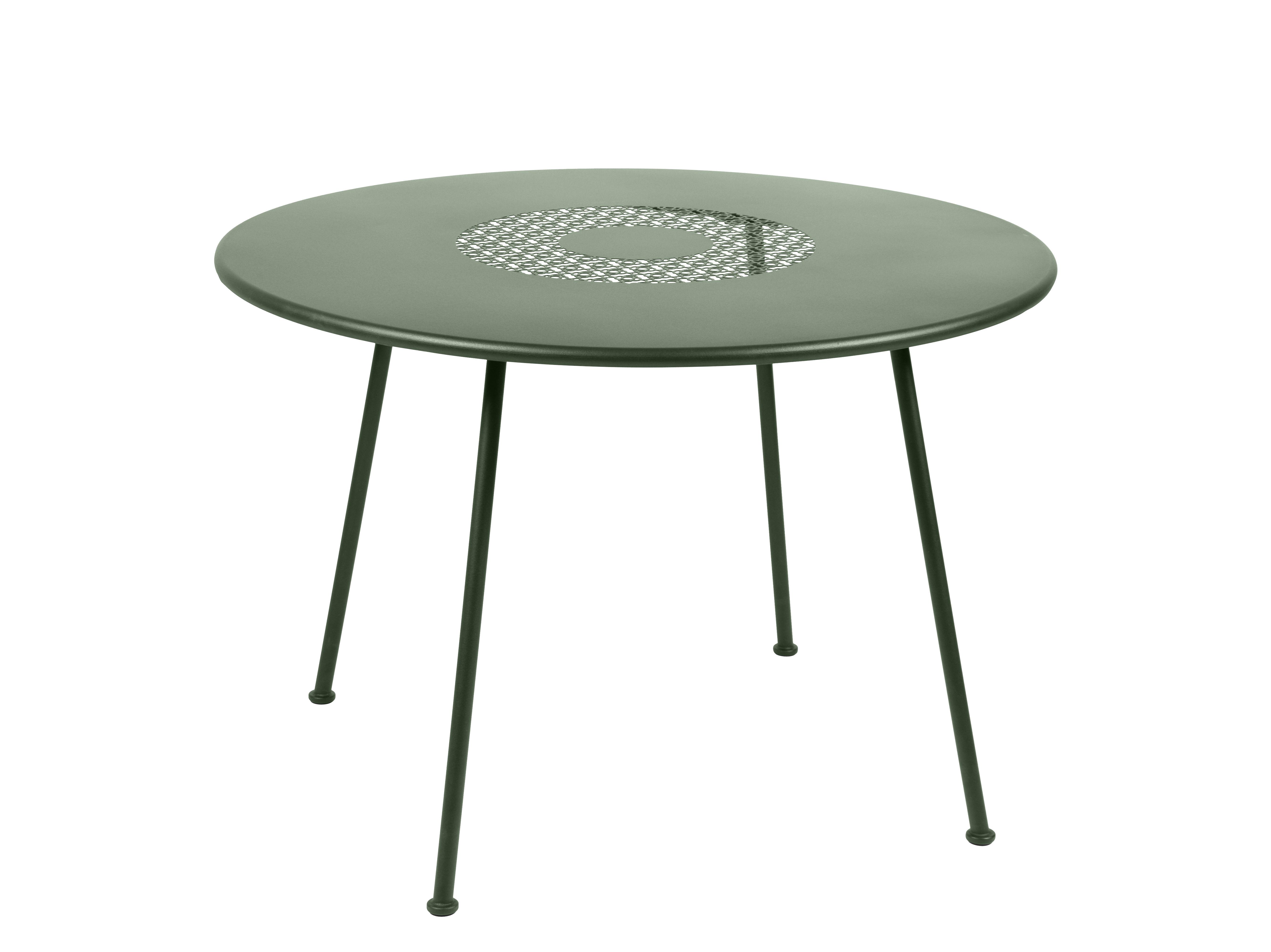 Outdoor - Tavoli  - Tavolo rotondo Lorette - / Ø 110 cm - Metallo di Fermob - Cactus - Acciaio laccato