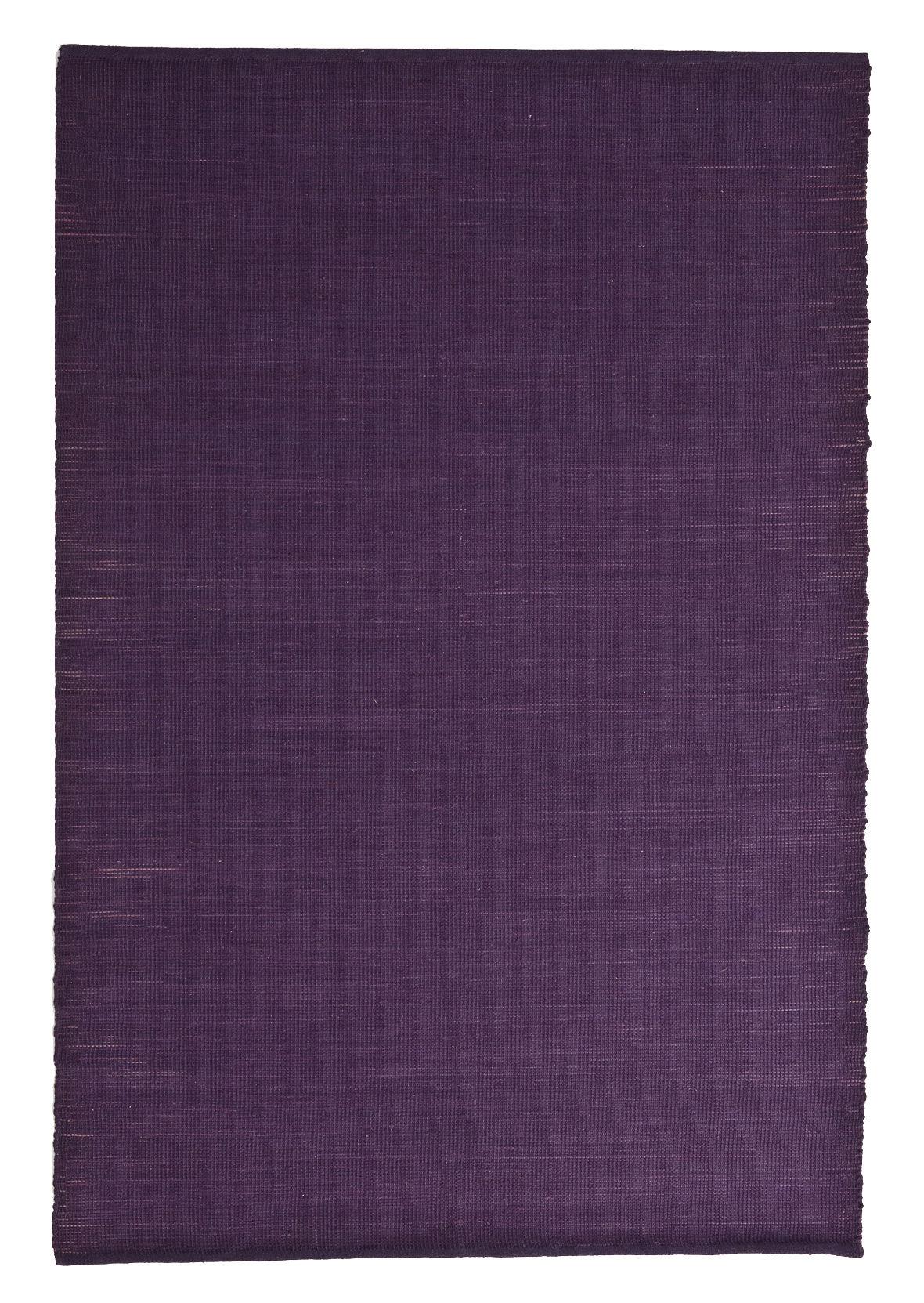 Dekoration - Teppiche - Natural Tatami Teppich / Jute und Wolle - 170 x 240 cm - Nanimarquina - Violett (uni) - Fibres de jute, Laine vierge
