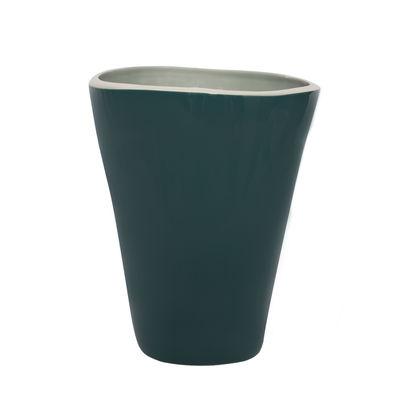 Vase Double Jeu / Large - H 29 cm - Maison Sarah Lavoine tilleul,bleu sarah en céramique