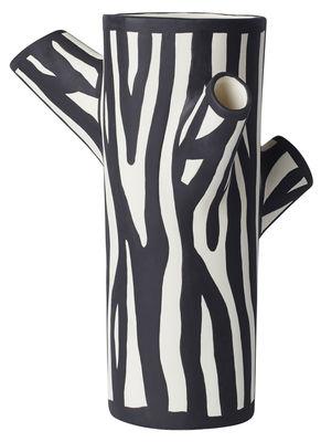 Dekoration - Vasen - Tree Trunk Medium Vase / Medium - H 30 cm - Hay - H 30 cm / Weiβ - Keramik
