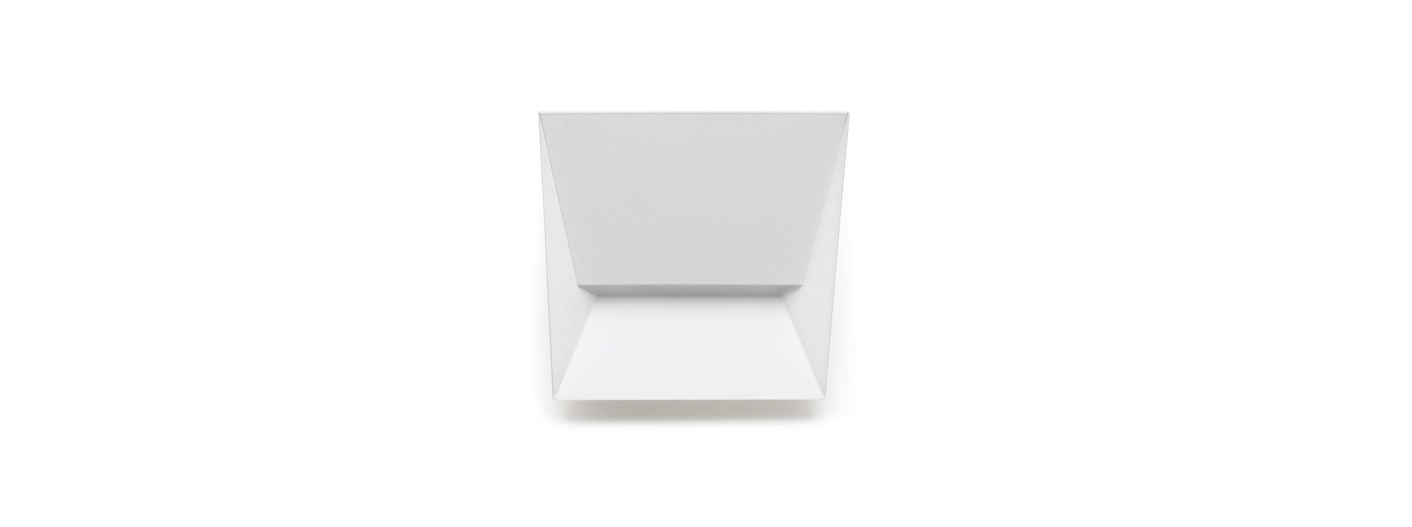 Lighting - Wall Lights - Mail S Wall light by Lumen Center Italia - S / L 19 cm - Matt white - Lacquered metal