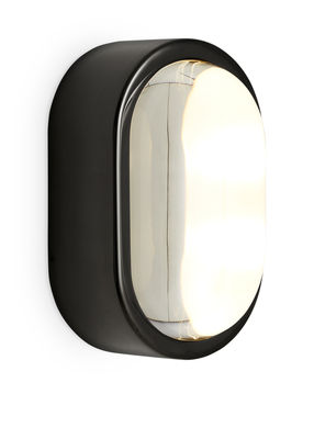 Lighting - Wall Lights - Spot Wall light - LED / Oval - 18 x 10 cm by Tom Dixon - Glossy black - Glass, Stainless steel