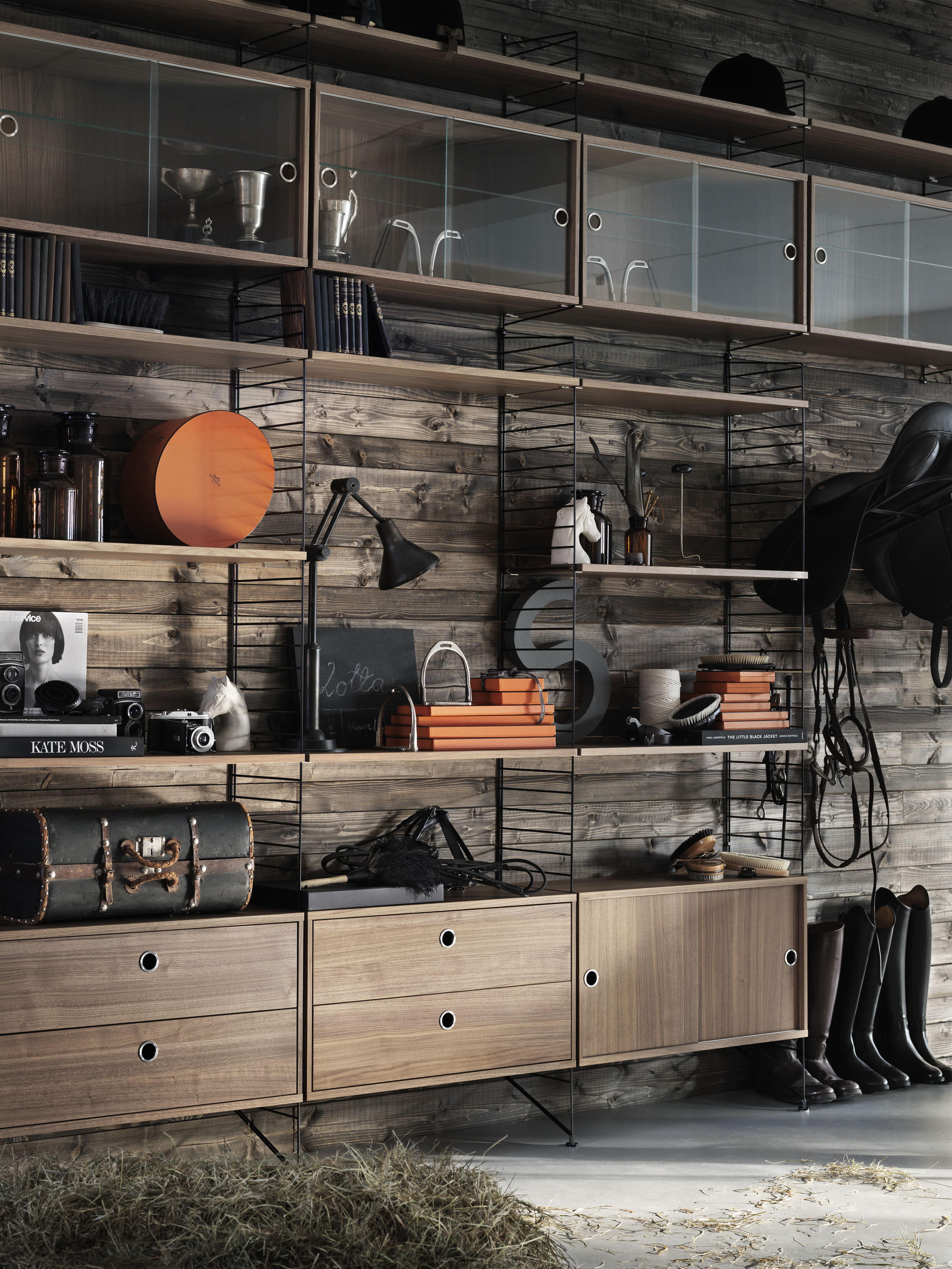 String system Wall mount - To suspend by String Furniture