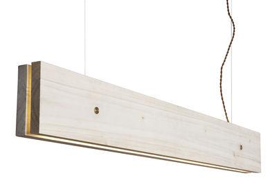 Applique avec prise plank led northern peuplier clair l 120 x h