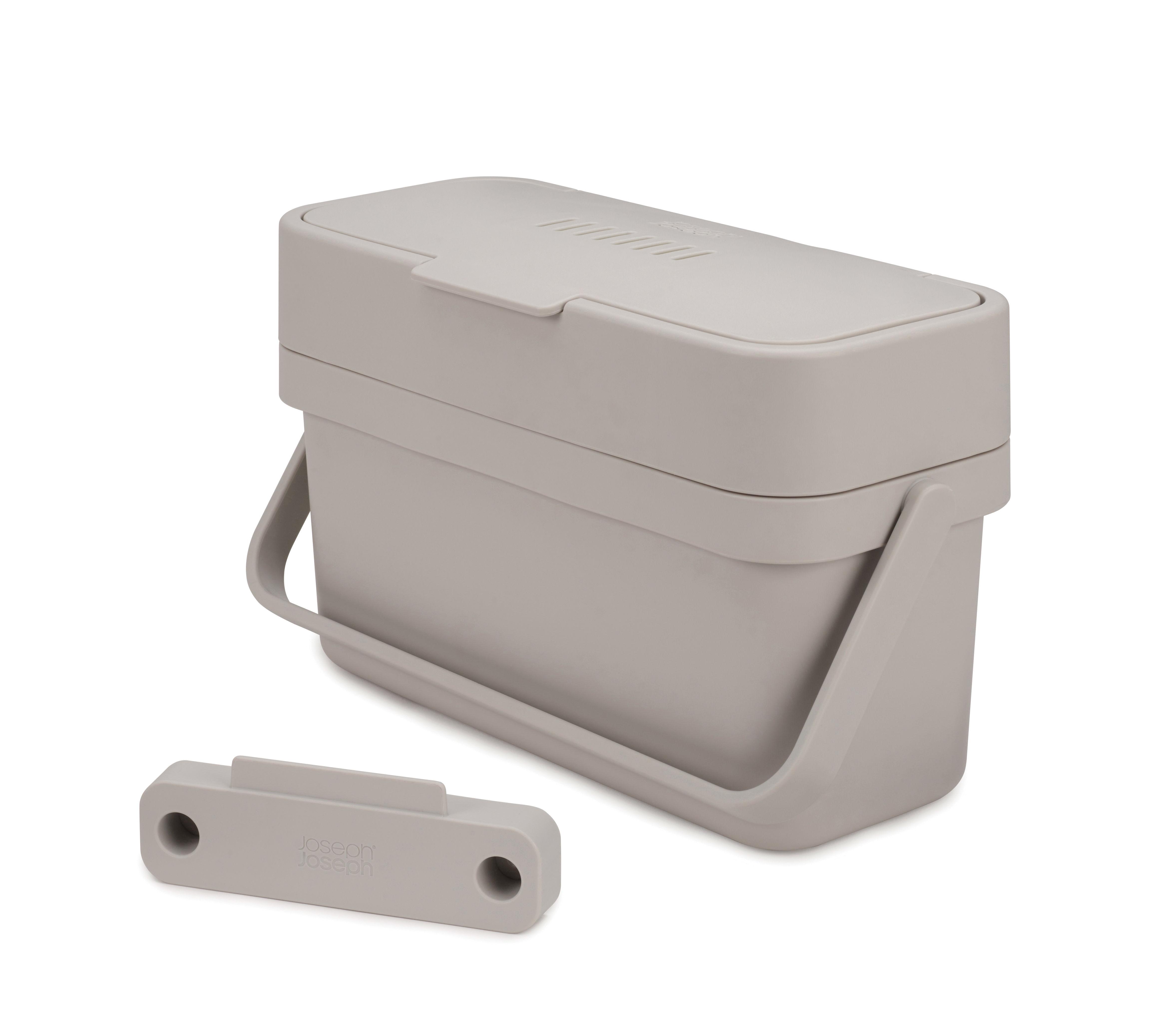 Cuisine - Poubelles de cuisine - Bac à déchets organiques Compo / 4 L - Fixation porte - Joseph Joseph - Blanc - Matière plastique