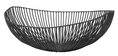 Tableware - Fruit Bowls & Centrepieces - Meo Basket - W 37 cm by Serax - Black - W 31 cm - Metal