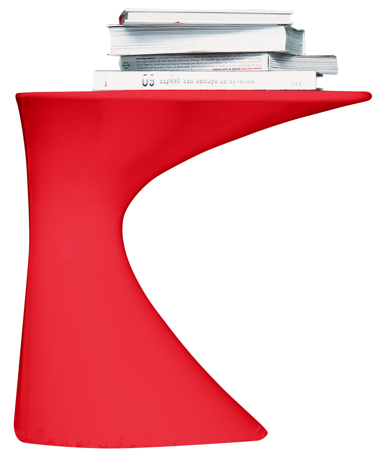 Möbel - Couchtische - Tod Beistelltisch - Zanotta - Rot lackiert - lackiertes Polypropylen