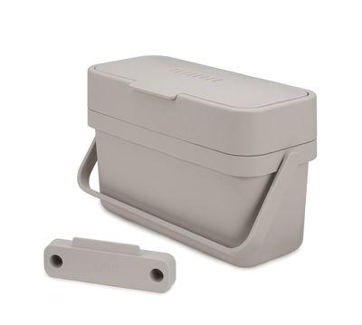 Küche - Mülleimer - Compo Bio-Abfalleimer / 4 l - mit Türbefestigung - Joseph Joseph - Weiß - Plastikmaterial