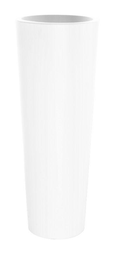Outdoor - Töpfe und Pflanzen - New Pot High Blumentopf H 90 cm - Serralunga - Weiß - Polyäthylen