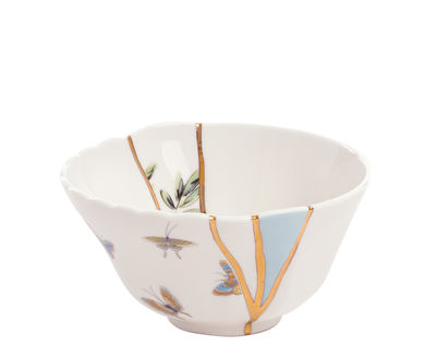 Bol Kintsugi / Porcelaine & or fin - Seletti blanc,multicolore,or en céramique