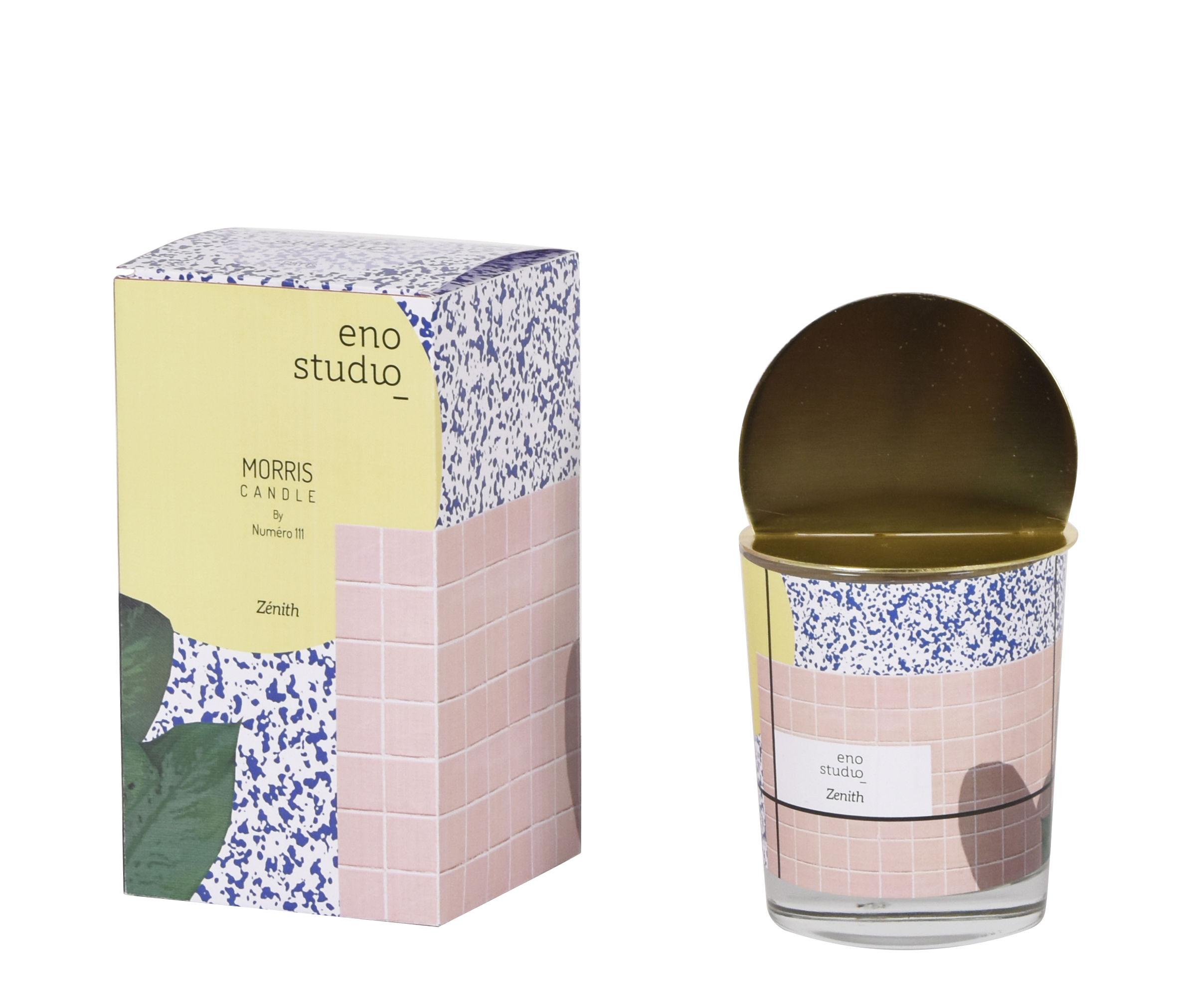 Déco - Bougeoirs, photophores - Bougie parfumée Morris - Zénith / Figuier - Couvercle laiton - ENOstudio - Zénith / Figuier - Acier, Cire minérale, Verre