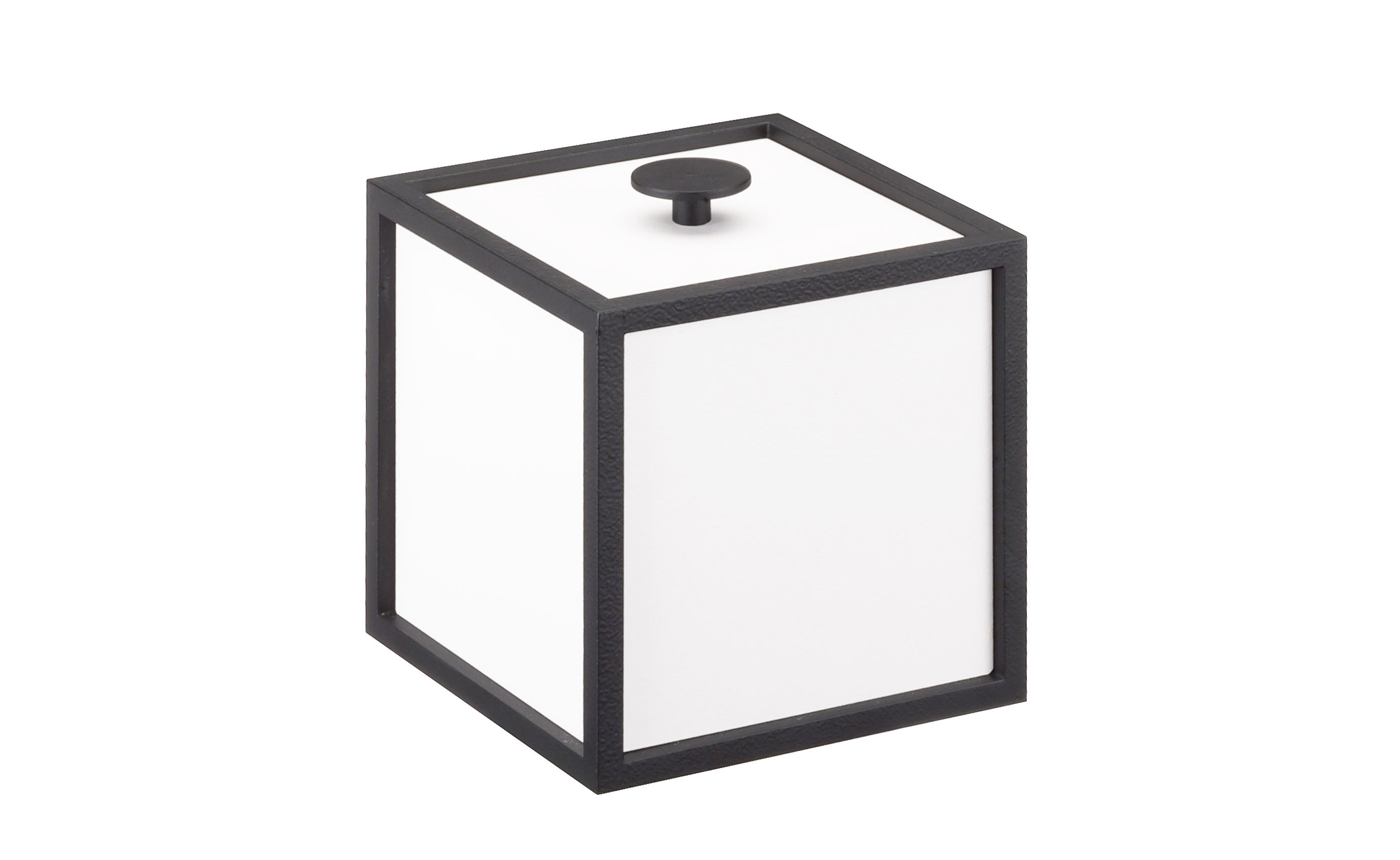 Decoration - Decorative Boxes - Frame Box by by Lassen - 10 cm / White & black - Lacquered MDF, Lacquered steel
