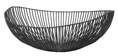 Tavola - Cesti, Fruttiere e Centrotavola - Cestino Meo / L 37 cm - Serax - Nero - L 37 cm - Metallo