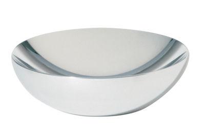 Tavola - Cesti, Fruttiere e Centrotavola - Coppa Double di Alessi - Diametro 20 cm - Acciaio lucidato