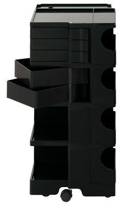 Desserte Boby / H 94 cm - 5 tiroirs - B-LINE noir en matière plastique