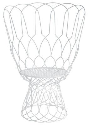 Mobilier - Chaises, fauteuils de salle à manger - Fauteuil Re-trouvé Large / Métal - Emu - Blanc - Acier