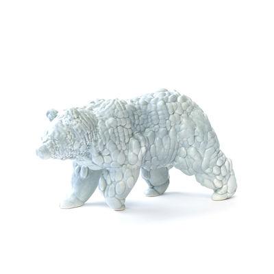 Figurine Orso Large / Céramique modelée 3D - L28 cm - Moustache gris clair en céramique