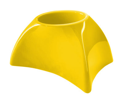 Outdoor - Pots & Plants - Tao S Flowerpot - H 36 cm - Lacquered version by MyYour - Lacquerized yellow - Lacquered roto-moulded polyhene