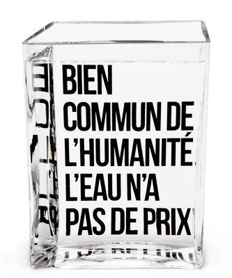 Tischkultur - Karaffen - La Lame d'Eau Karaffe von Philippe Starck / 50 cl - Made in design Editions - Transparent / mit schwarzem Aufdruck - Glas