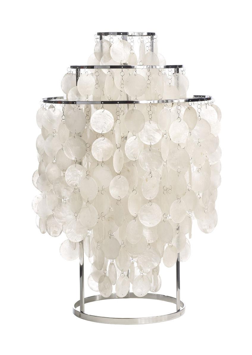 Luminaire - Lampe de table Fun 1TM / Ø 40 cm - Panton 1964 - Verpan - Nacre & chromé - Métal, Nacre