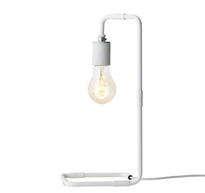 Luminaire - Lampes de table - Lampe de table Reade / H 34 cm - Menu - Blanc - Acier, Porcelaine