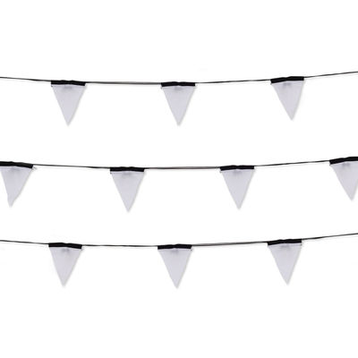 Decoration - Children's Home Accessories - Sagra Outdoor luminous garland - LED by Seletti - black, white - Polycarbonate, Polyester fabric, PVC