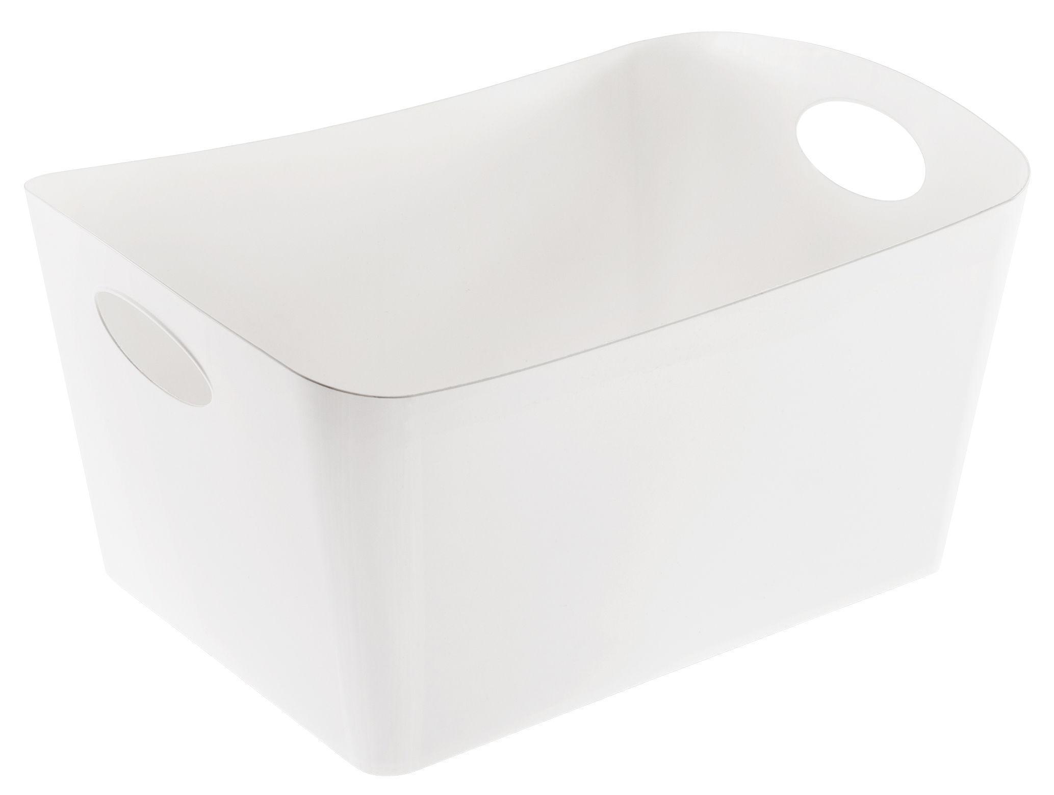 Déco - Paniers et petits rangements - Panier Boxxx L / 15 L - Koziol - Blanc opaque - Matière plastique
