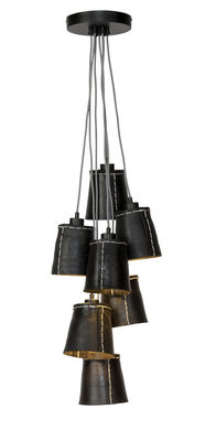 Lighting - Pendant Lighting - Amazon Pendant - / 7 lampshades - Recycled tyre by GOOD&MOJO - Black - Recycled tyre