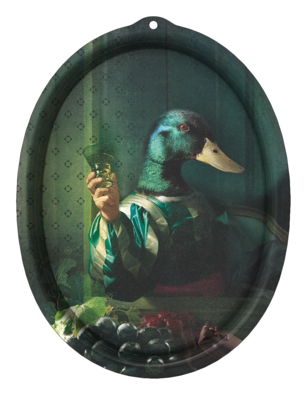 Tavola - Vassoi  - Piano/vassoio Le Boudoir - Achille - Cornice di Ibride - Achille / Tonalità verdi - Laminato massello