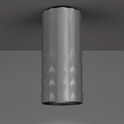 Plafonnier Fiamma / H 31 cm - Artemide gris métallisé en métal