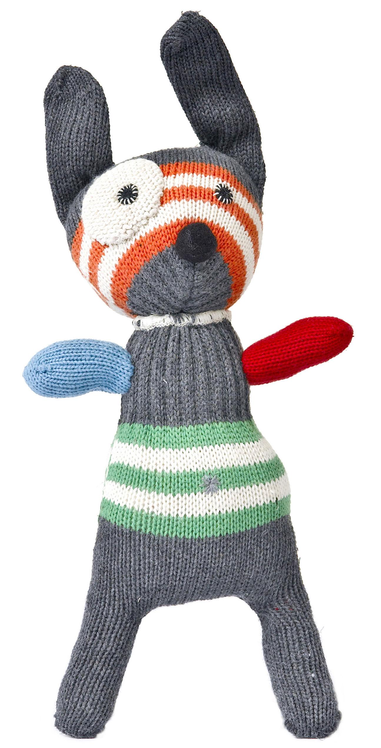 Dekoration - Für Kinder - New small dog Plüsch gehäkelt - Anne-Claire Petit - Mehrfarbig - Baumwolle