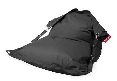 Pouf Buggle-up Outdoor / Sangles ajustables - Tissu acrylique - Fatboy L 190 x Larg 140 cm gris en tissu
