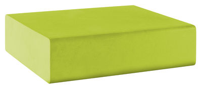 Pouf Matrass Mat 75 - Quinze & Milan vert citron en matière plastique