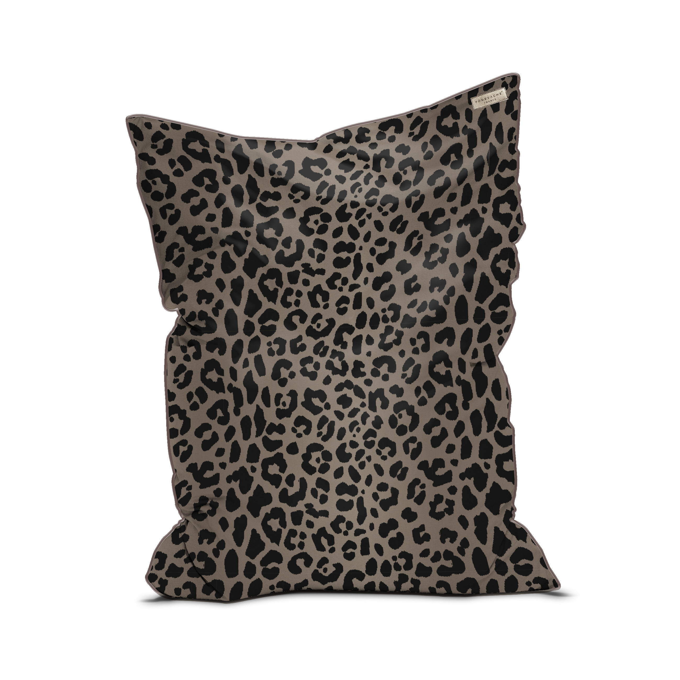Furniture - Poufs & Floor Cushions - Out Of Africa Pouf - / Velvet - 115 x 145 cm by PÔDEVACHE - Leopard - EPS balls, Fabric, Velvet
