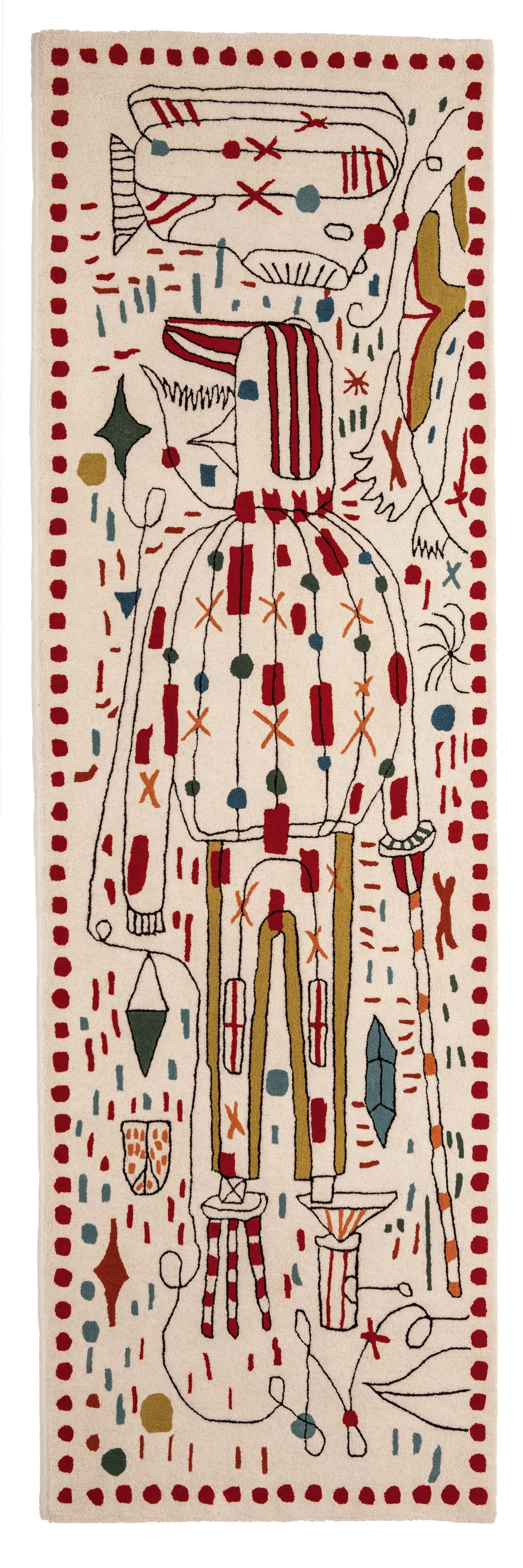 Decoration - Rugs - Hayon x Nani Rug - 80 x 240 cm by Nanimarquina - Multicolore - New-zealand wool