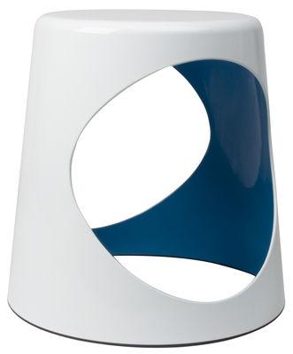 Arredamento - Tavolini  - Sgabello O2 Chair di XL Boom - Bianco / Interno blu - ABS laccato
