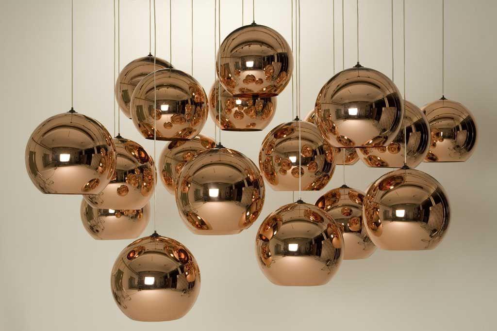 Sospensione copper round tom dixon rame Ø 45 made in design