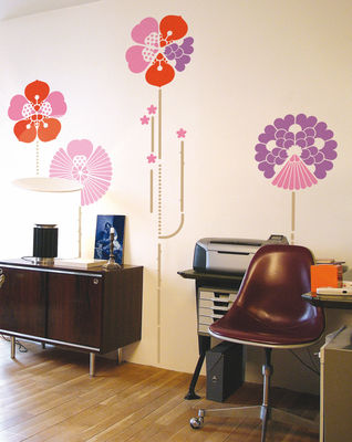 Decoration - Wallpaper & Wall Stickers - Hybrid Pink Sticker by Domestic - Pink tonalities - Vinal