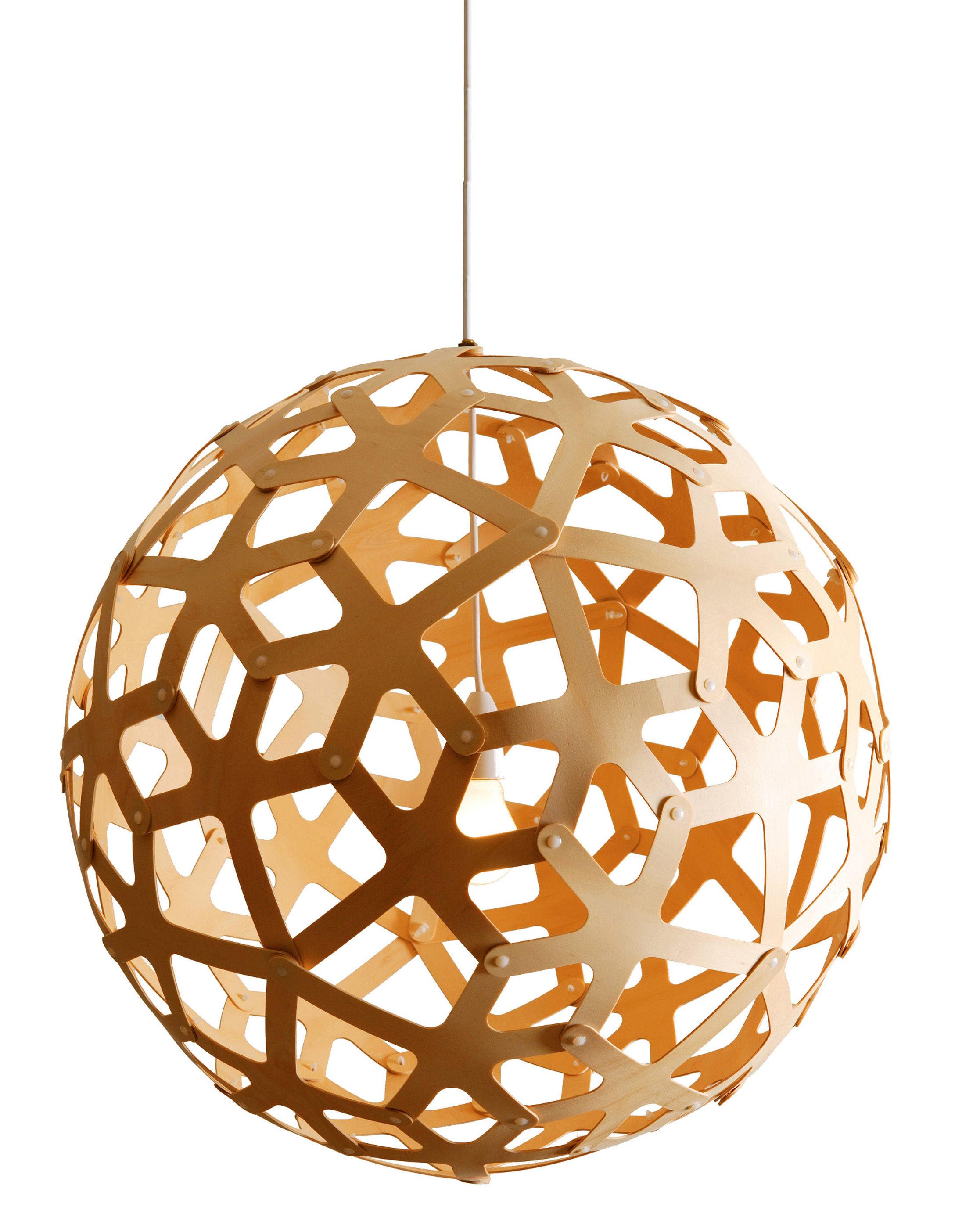 Luminaire - Suspensions - Suspension Coral / Ø 40 cm - Bois naturel - David Trubridge - Bois naturel - Pin