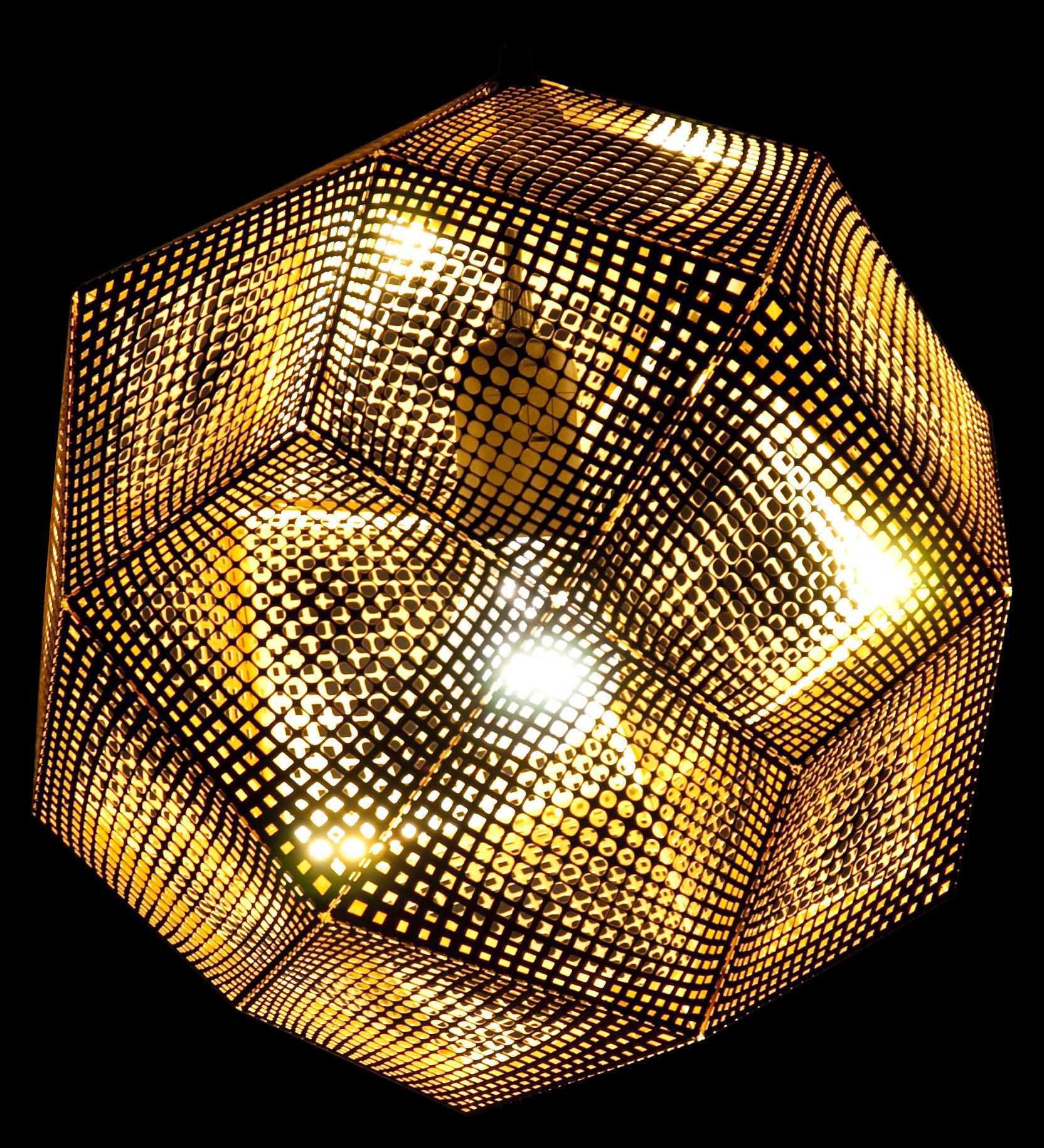 Luminaire - Suspensions - Suspension Etch Shade / Ø 32 cm - Tom Dixon - Or - Acier