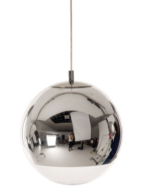 Suspension Mini ball - Tom Dixon chromé en matière plastique