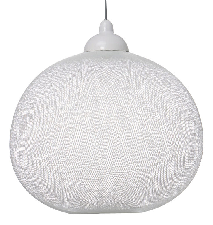 Luminaire - Suspensions - Suspension Non Random Light / Small- Ø 48 cm - Moooi - Blanc - Fibre de verre