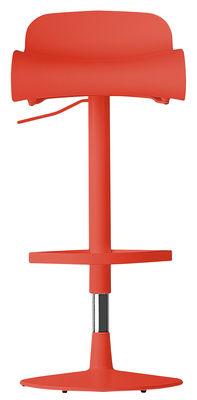Furniture - Bar Stools - BCN Swivel bar stool - Pivoting by Kristalia - Coral - Plastic material, Steel