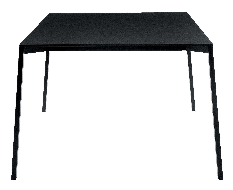 Outdoor - Tables de jardin - Table rectangulaire One / 220 x 100 cm - Magis - Noir - 220 x 100 cm - Aluminium verni, HPL