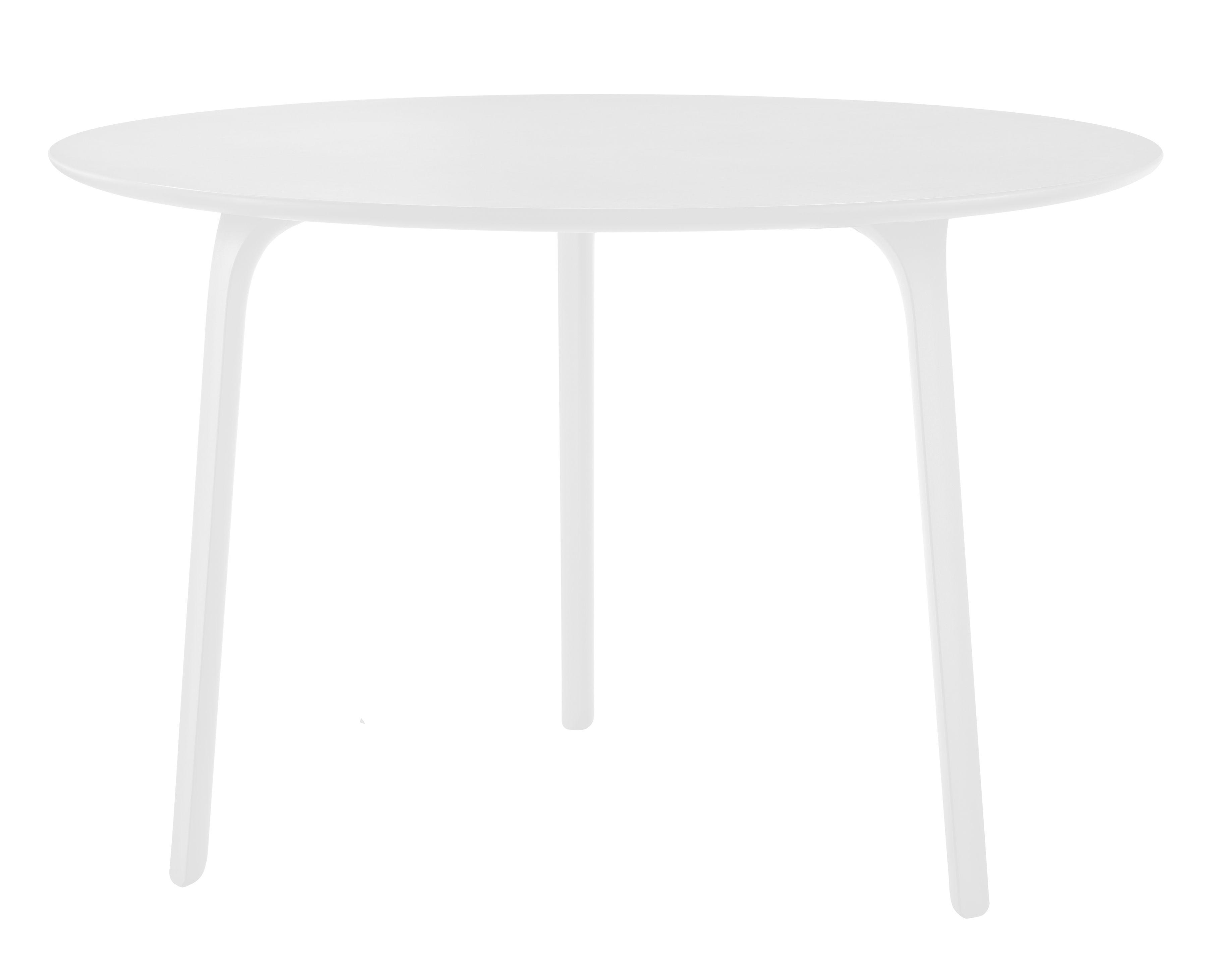 Mobilier - Tables - Table ronde First / Ø 120 - Pour l'intérieur - Magis - Pieds blancs/ plateau blanc - Polyamide