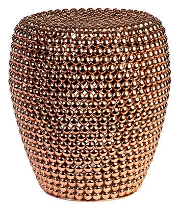 Mobilier - Tabourets bas - Tabouret Dot / Métal - Ø 40 x H 46 cm - Pols Potten - Cuivre - Métal